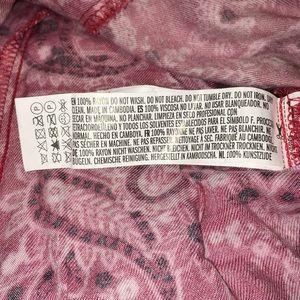 Forever 21 Skirts - EUC {Forever 21} Red bandana mini skirt button up